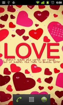 رسالة حب Lwp تصوير الشاشة 1