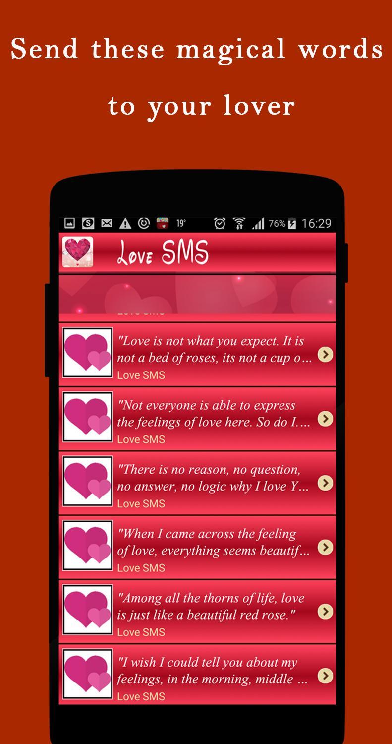 Romantic messages, 5000+ Love Messages, Love SMS for Android