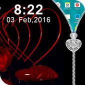 Love Zipper Lock Screen icon