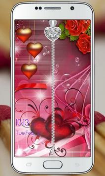 Love Zipper Lock Screen apk screenshot
