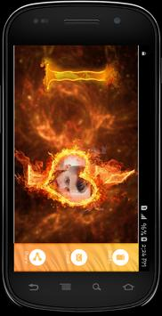 Fire Text Photo frames screenshot 4