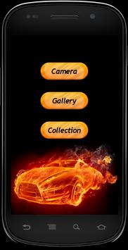 Fire Text Photo frames poster