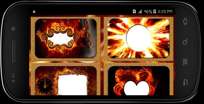 Fire Text Photo frames screenshot 1