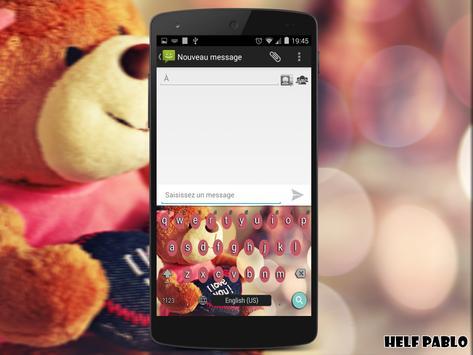 Love keyboard theme screenshot 1