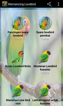 Memancing Lovebird Lepas dari kandang apk screenshot