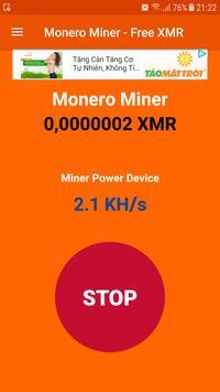 Monero Miner - Free XMR screenshot 1