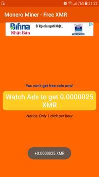Monero Miner - Free XMR screenshot 4