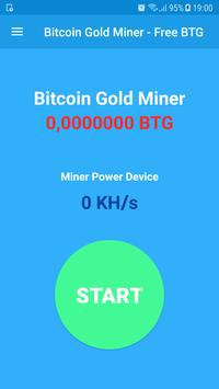 Bitcoin Gold Miner - Free BTG poster