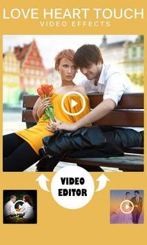 Love Heart Touch Video Effects screenshot 1