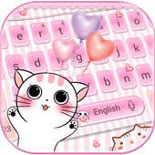 Lovely cat Keyboard Theme pink kitty icon