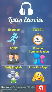english listening exercise poster