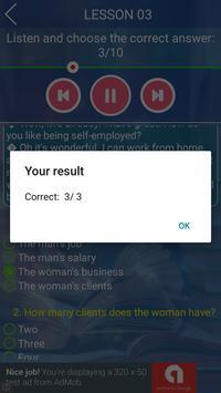english listening exercise screenshot 5