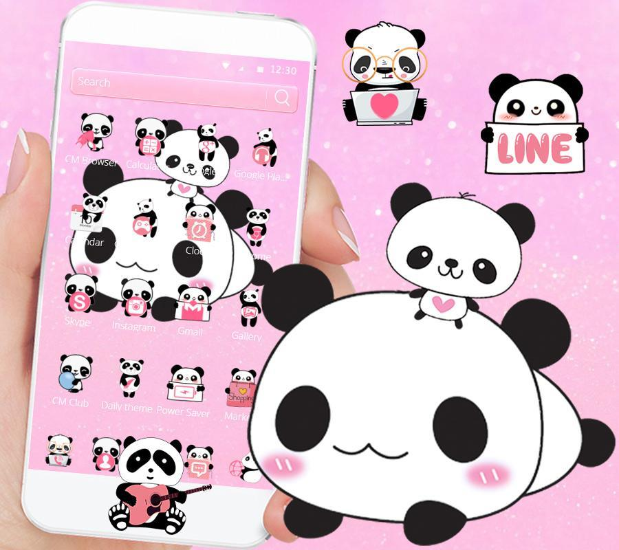 Imut Panda Tema Cute Panda For Android Apk Download