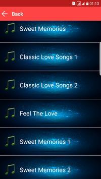 Love Songs MP3 Sweet Memories apk screenshot