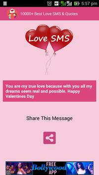 10000+ Best Love SMS & Quotes apk screenshot