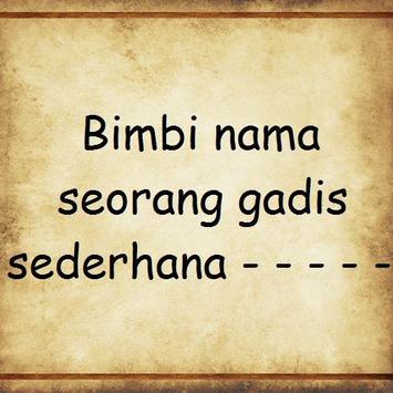 Bimbi - Titiek Puspa poster