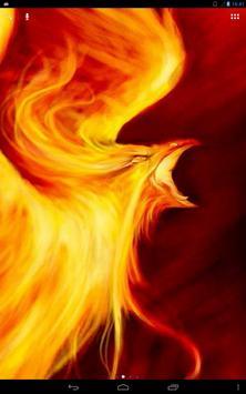 Fiery Predatory Bird Live WP apk screenshot