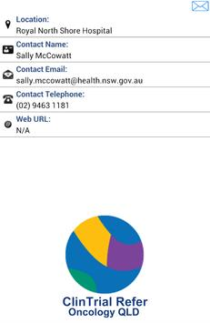 ClinTrial Refer Oncology QLD apk screenshot