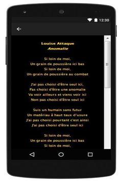 Louise Attaque New Lyrics apk screenshot