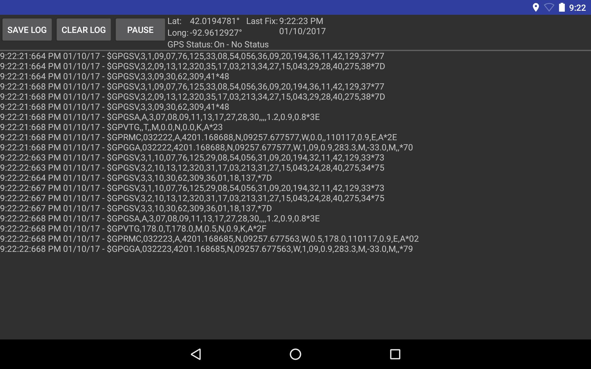 GPS Info & NMEA Logging for Android - APK Download