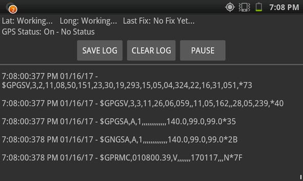 GPS Info & NMEA Logging screenshot 3