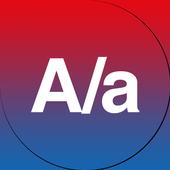 A/a Gradient icon