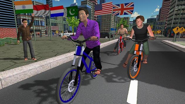 BMX City Bicycle Rider Race poster