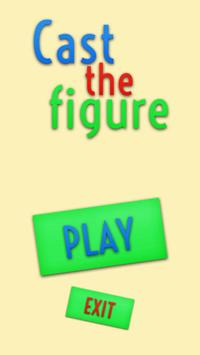 Cast the figure poster