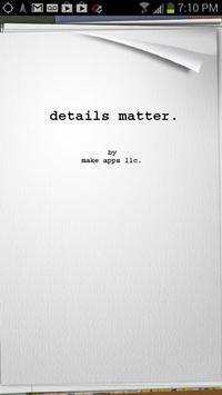 Details Matter poster