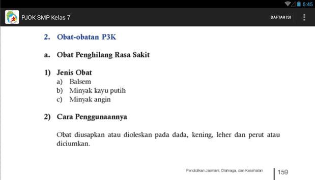 Kurikulum 2013 SMP Kls 7 PJOK apk screenshot