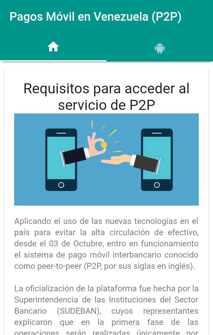 Pagos Móvil en Venezuela (P2P) for Android - APK Download