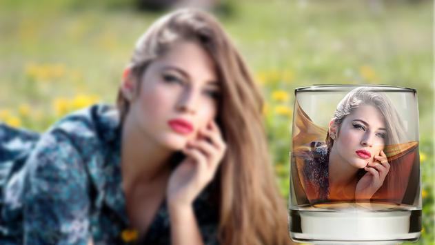 Glass & Bottle Photo Frame poster