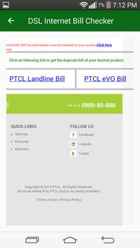 Bill Checker For PTCL DSL Evo 2017 screenshot 5