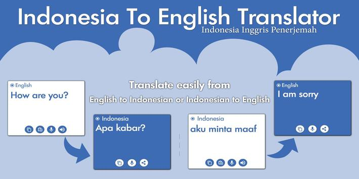 Indonesian English Translator - Dictionary poster