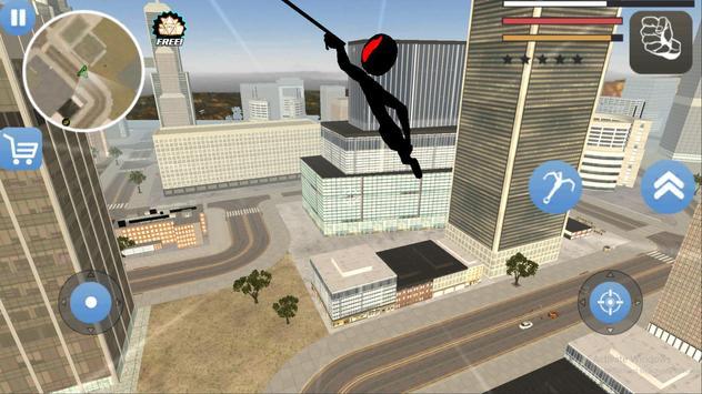 Grand Stickman Theft Rope Hero screenshot 6