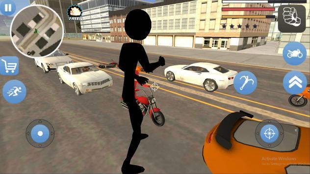 Grand Stickman Theft Rope Hero screenshot 1