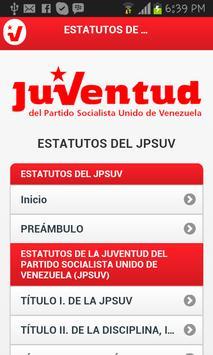 Estatutos del JPSUV Venezuela poster