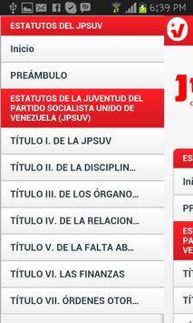 Estatutos del JPSUV Venezuela screenshot 1