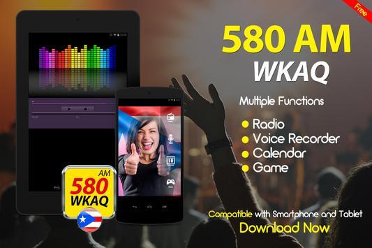 WKAQ 580 am puerto rico radio station online radio apk screenshot