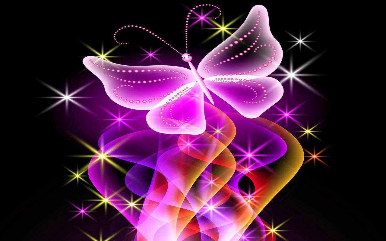 Neon Butterfly Desktop Background: Neon Butterfly Wallpaper For Android