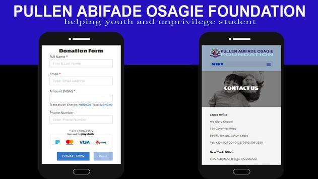 Pullen Abifade Osagie Foundation screenshot 2