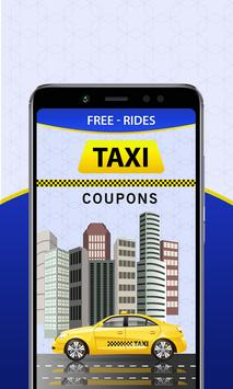 Free Taxi - Cab Coupons for Uber & Lyft poster