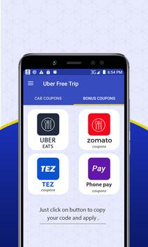 Free Taxi - Cab Coupons for Uber & Lyft apk screenshot