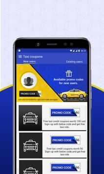 Free Taxi - Cab Coupons for Uber & Lyft apk screenshot