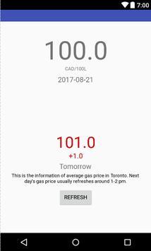Gas Price Tomorrow poster