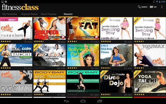 FitnessClass apk screenshot