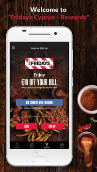 FRIDAYS- REWARDS APP poster
