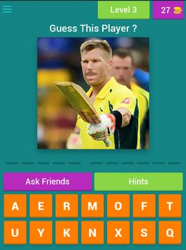 Guess Cricket Player screenshot 15