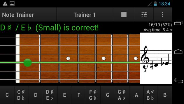 Guitar Note Trainer Demo screenshot 2