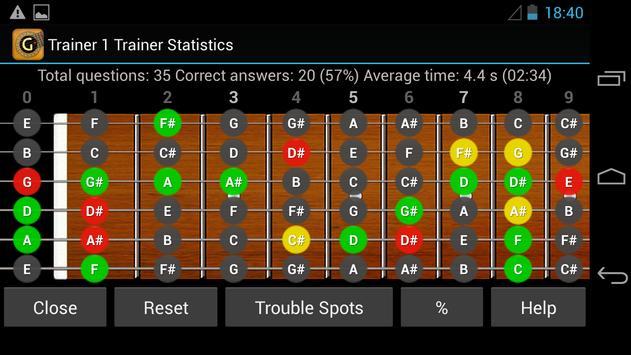 Guitar Note Trainer Demo screenshot 5